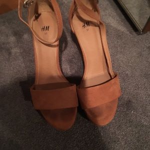 H&M wedges, worn only once!